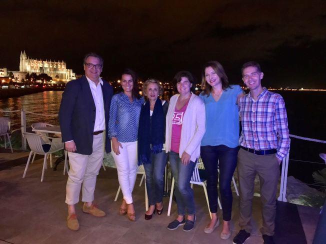 MALLORCA . Octubre 2017 - Tiempo de mujeres - Mujer y Visibilidad - Foto grupo ponentes - CENA en Mallorca