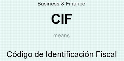 CIF meaning - what does CIF stand for?