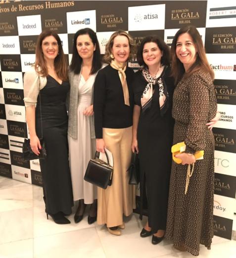 socias EJECON en la gala de los RRHH 2019