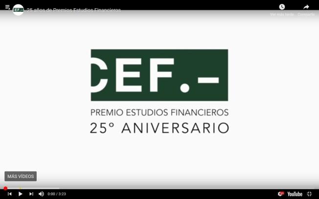 Banner premios CEF vídeo