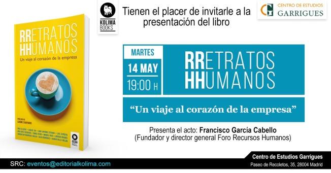 Presentación RRetratos HHumanos en Garrigues 14.05.2019